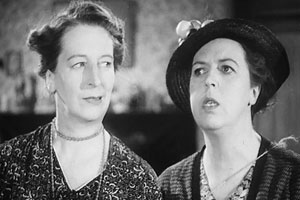 Gert And Daisy's Week-end. Image shows from L to R: Gert (Elsie Waters), Daisy (Doris Waters). Copyright: Butcher's Film Service.