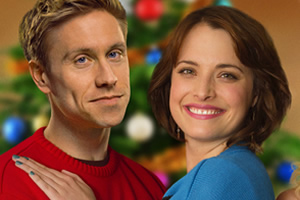 A Gert Lush Christmas. Image shows from L to R: Dan Colman (Russell Howard), Lisa (Hannah Britland). Copyright: Avalon Television.