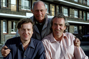 Get Back. Image shows from L to R: Martin Sweet (Ray Winstone), Bernie Sweet (John Bardon), Albert Sweet (Larry Lamb).