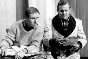 Great Scott - It's Maynard!. Image shows from L to R: Bill Maynard, Terry Scott. Copyright: BBC.