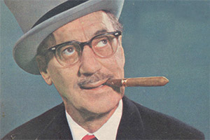 Groucho. Groucho Marx. Copyright: Associated-Rediffusion Television.