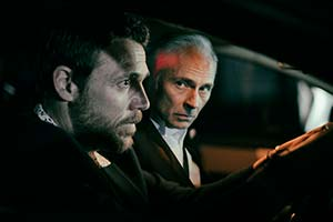 Guilt. Image shows from L to R: Jake McCall (Jamie Sives), Max McCall (Mark Bonnar). Copyright: Happy Tramp Productions.