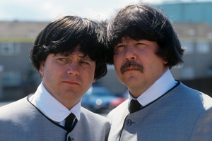 Hale And Pace. Image shows from L to R: Norman Pace, Gareth Hale. Copyright: London Weekend Television.