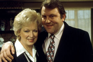 Happy Ever After. Image shows from L to R: June Fletcher (June Whitfield), Terry Fletcher (Terry Scott). Copyright: BBC.