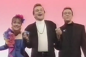 Harry Enfield & Chums. Image shows from L to R: Kathy Burke, Harry Enfield, Paul Whitehouse.