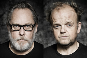 The Hartlepool Spy. Image shows from L to R: Revd Ferrier (Vic Reeves), Mayor Palmer (Toby Jones). Copyright: BBC.