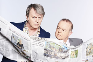 Have I Got News For You. Image shows from L to R: Paul Merton, Ian Hislop.