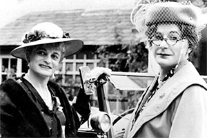 Dame Hilda Bracket and Dr Evadne Hinge. Image shows from L to R: Patrick Fyffe, George Logan. Copyright: BBC.