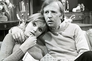 His And Hers. Image shows from L to R: Madeline Smith, Tim Brooke-Taylor. Copyright: Yorkshire Television.