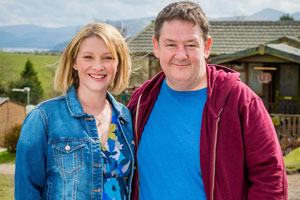 Home From Home. Image shows from L to R: Fiona Hackett (Joanna Page), Neil Hackett (Johnny Vegas). Copyright: BBC.