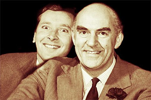 Horne Of Plenty: Beyond Our Ken To Round The Horne. Image shows from L to R: Kenneth Williams, Kenneth Horne. Copyright: BBC.