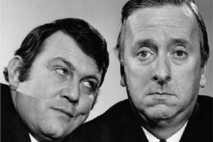 Hugh And I. Image shows from L to R: Terry Scott (Terry Scott), Hugh Lloyd (Hugh Lloyd). Copyright: BBC.