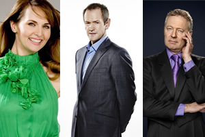 The Imitation Game. Image shows from L to R: Debra Stephenson, Alexander Armstrong, Rory Bremner.