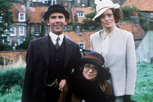 In Loving Memory. Image shows from L to R: Billy Henshaw (Christopher Beeny), Ivy Unsworth (Thora Hird), Mary Braithwaite (Sherrie Hewson). Copyright: Yorkshire Television.