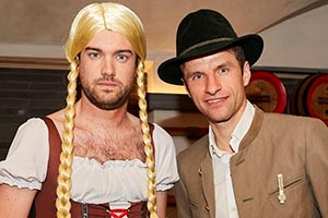 Jack Whitehall: Training Days. Image shows from L to R: Jack Whitehall, Thomas Müller. Copyright: Fulwell 73 Productions.
