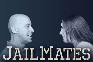 Jail Mates. Image shows from L to R: Gerry (Gary Little), Jenny (Julia Sutherland). Copyright: Dabster Productions.