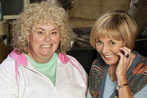 Jam & Jerusalem. Image shows from L to R: Rosie Bales (Dawn French), Sal Vine (Sue Johnston). Copyright: BBC.