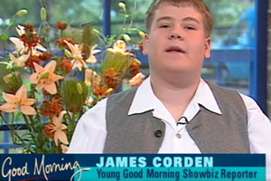 James Corden in 1995