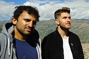 Joel & Nish Vs The World. Image shows from L to R: Nish Kumar, Joel Dommett. Copyright: Rumpus Media.