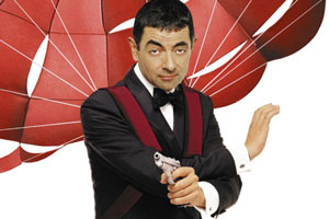 Johnny English. Johnny English (Rowan Atkinson). Copyright: Working Title Films / StudioCanal.
