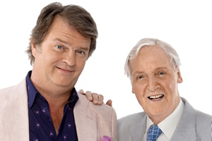 Just A Minute. Image shows from L to R: Paul Merton, Nicholas Parsons. Copyright: BBC.