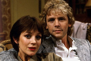 Just Good Friends. Image shows from L to R: Penny Warrender (Jan Francis), Vince Pinner (Paul Nicholas). Copyright: BBC.