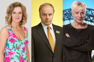 Image shows from L to R: Siobhan Finneran, Jason Watkins, Denise Welch.