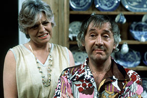 Keep It In The Family. Image shows from L to R: Muriel Rush (Pauline Yates), Dudley Rush (Robert Gillespie). Copyright: Thames Television.