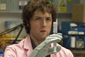 Lab Rats. Dr Alex Beenyman (Chris Addison). Copyright: BBC.