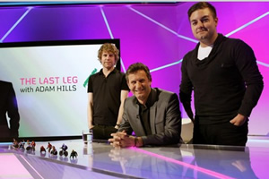 The Last Leg. Image shows from L to R: Josh Widdicombe, Alex Brooker.
