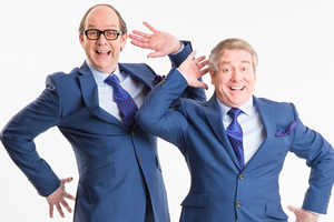 The Late Late Morecambe And Wise Show. Image shows from L to R: Eric (Jonty Stephens), Ern (Ian Ashpitel).