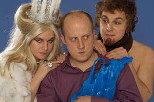 Laura, Ben And Him. Image shows from L to R: Laura Solon, Marek Larwood, Ben Willbond. Copyright: Avalon Television.