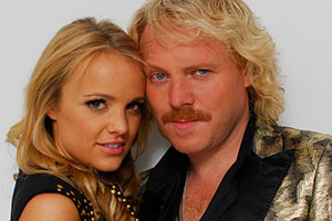 Lemon La Vida Loca. Image shows from L to R: Rosie Parker (Laura Aikman), Keith Lemon (Leigh Francis).