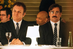 The Lobster. Image shows from L to R: Lisping Man (John C. Reilly), David (Colin Farrell).