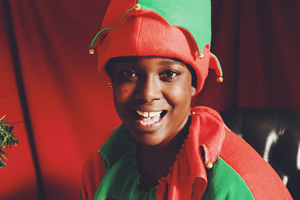 Lolly Adefope's Christmas. Lolly (Lolly Adefope). Copyright: Merman.