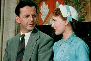 Made In Heaven. Image shows from L to R: Basil Topham (David Tomlinson), Julie Topham (Petula Clark).