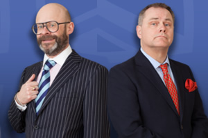 The Mayoress. Image shows from L to R: Roger (Harry Hill), Tim (Jack Dee).