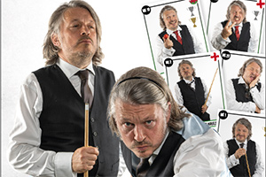Me1 versus Me2 Snooker with Richard Herring. Richard Herring.