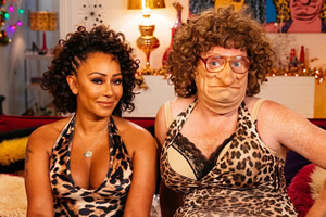 What A F***in' Year On TV With Mel B & Mel B. Image shows from L to R: Melanie Brown, Leigh Francis.