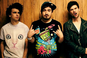 The Midnight Beast. Image shows from L to R: Stefan Abingdon, Ashley Horne, Andrew Wakely.