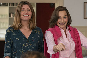 Military Wives. Image shows from L to R: Lisa (Sharon Horgan), Kate (Kristin Scott Thomas). Copyright: Lions Gate.