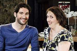 Miranda. Image shows from L to R: Gary (Tom Ellis), Miranda (Miranda Hart).