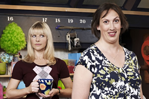 Miranda. Image shows from L to R: Stevie (Sarah Hadland), Miranda (Miranda Hart). Copyright: BBC.