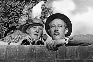 Miss Robin Hood. Image shows from L to R: Miss Heather Honey (Margaret Rutherford), Henry Wrigley (Richard Hearne). Copyright: Group 3 Productions.