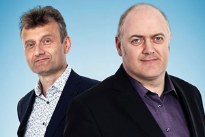Mock The Week. Image shows from L to R: Hugh Dennis, Dara O Briain.