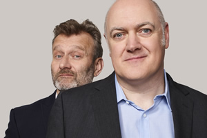 Mock The Week. Image shows from L to R: Hugh Dennis, Dara O Briain. Copyright: Angst Productions.
