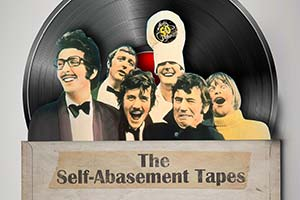 Monty Python At 50: The Self-Abasement Tapes. Image shows from L to R: Eric Idle, Graham Chapman, Michael Palin, John Cleese, Terry Jones, Terry Gilliam. Copyright: BBC.