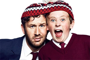 Moone Boy. Image shows from L to R: Sean Murphy (Chris O'Dowd), Martin (David Rawle).