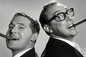 Morecambe & Wise Forever. Image shows from L to R: Ernie Wise, Eric Morecambe. Copyright: Shiver Productions.