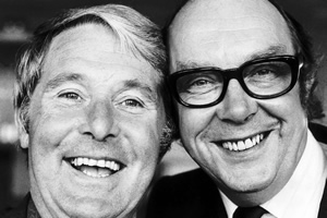 Image shows from L to R: Eric Morecambe, Ernie Wise. Copyright: ITN.